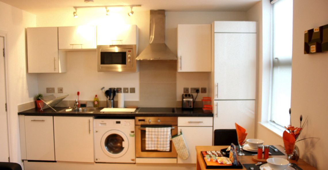 Westciti Chatsworth Road Apartments Kitchen Area